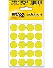 Pimaco Etiqueta Adesiva, BIC, 886607, Amarelo, 150 etiquetas, Amarelo, 150 etiquetas