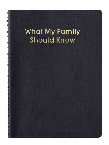 """What My Family Should Know"" Estate Planning Spiral Bound..."