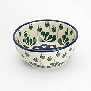 Polish Pottery Cereal Bowl – Love Leaf 12cm D x 5cm H