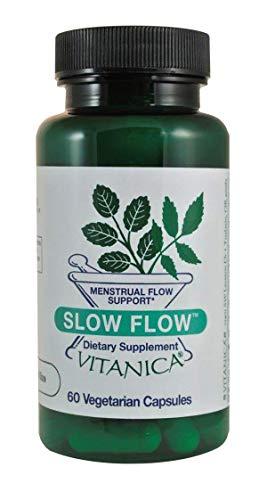 Vitanica, Slow Flow, Menstrual Flow Support, 60 Vegetarian Capsules (Best Herbs For Blood Flow)