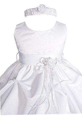 AMJ Dresses Inc Baby Girls' White Flower Girl Christening Dress A1091 Sz S