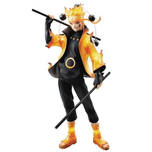 - Siyushop Naruto Shippuden: Uzumaki Naruto GEM PVC Figure - Includes Weapons and Replaceable Faces - High 20CM