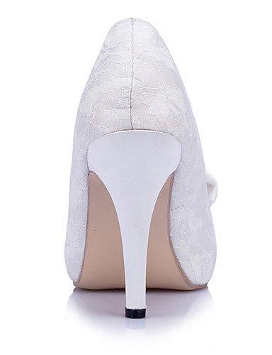 Abierta Y De Zq Zapatos 4in white ivory boda tacones Noche Vestido Punta 4 Boda Blanco 3 marfil tacones 4in 4in 3 mujer Fiesta xvqYd5wqr