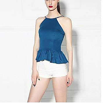 Mujer Camisas y blusas de mujer Depósitos de color azul/blanco/negro, sin