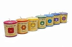 Gift set of 7 Chakra Stearin Votive Fragrance Candles