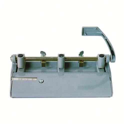AbilityOne - 3-Hole Punch - Heavy-Duty, 13/32 Hole Punch, Gray 7520-00-263-3425