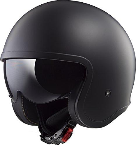 LS2 Helmets Unisex-Adult Solid Spitfire Helmets (Matte Black, Large)
