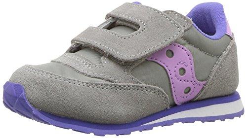 Saucony Jazz Hook & Loop Sneaker (Toddler/Little Kid), Grey/Periwinkle, 7.5 M US Toddler