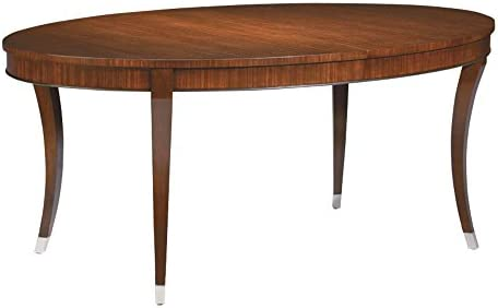Ethan Allen Hathaway Oval Formal Dining Table Dark Sable