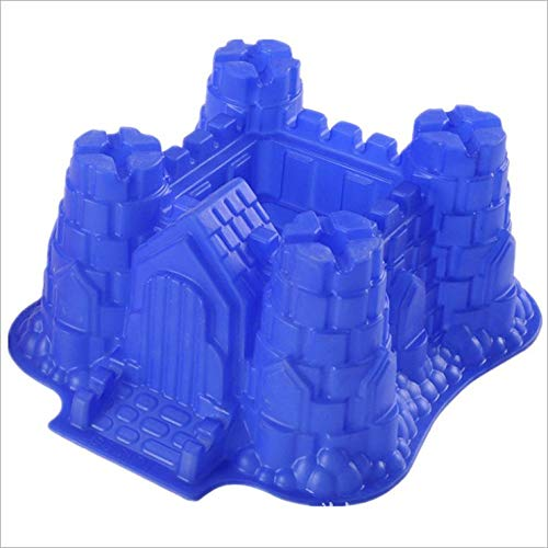 AMZLUCKY - 3d Castle Bundt Cake Pan Bread Chocolate Bakeware Silicone Mold cake tools cake decorating tools kitchen accessories