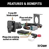 CURT 56366 Vehicle-Side Custom RV Blade 7-Pin