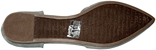 Breckelles Women's Faux Suede D'Orsay Pointed Toe Flats Gray 8
