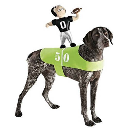 Dog Football Player Costume Plush Pet Rider Superbowl Outfit by Boots& Barkley