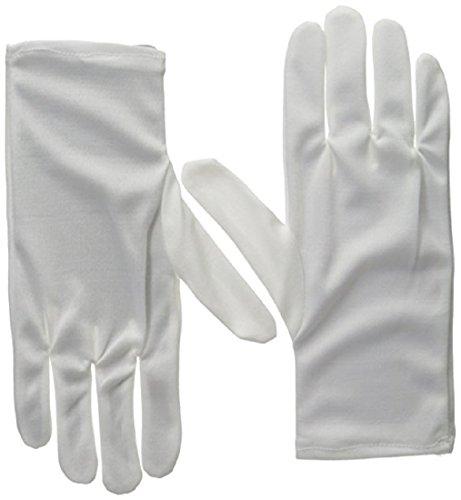 [Adult White Costume Gloves Standard] (Lisa Simpson Costumes)