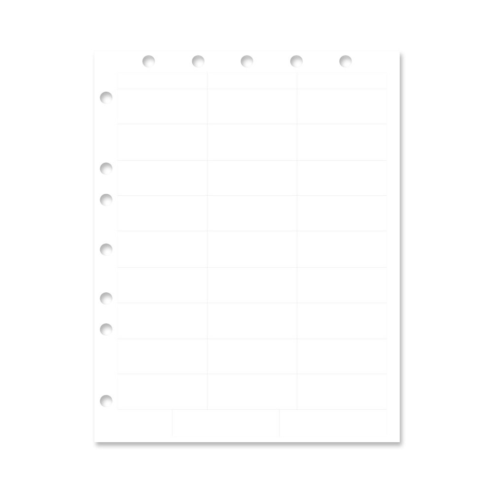 PDC Healthcare WBW79 Chart Labels Laser, Portrait with Holes, Multiple Size Labels X 32 Labels per Sheet, White, 4 Packs of 250 Sheets per Case (Pack of 1000)