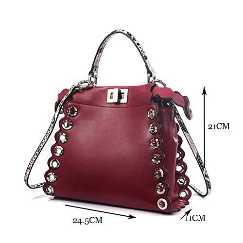 21 De Sac Cuir D'épaule 24 De Multicolore Red CM De 11 Dames Facultatif Sac Main Messager bag en Crossbody Red à Sac Sauvage qtcxOFTZ
