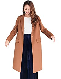 France CG Wool Coat for Women Double Sided 100% Wool Classic Camel Warm Winter G0023