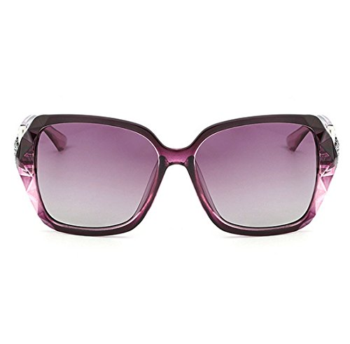 Elegante Polarizadas Light Gafas UV Anti para De Purple Resina Versión End Lady Sol Purple Visible PC Perspective Coreana 99 High UV400 QQBL De wTRxC6qnY