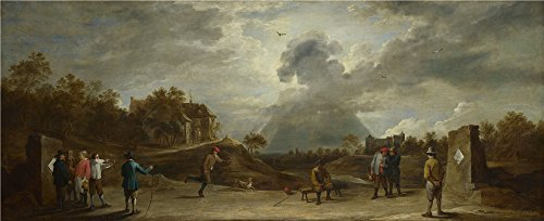Oil Painting 'David Teniers The Younger - Peasants At Archery,about 1645' 20 x 49 inch / 51 x 125 cm , on High Definition HD canvas prints is for Gifts (About Ready For The Costume Party Vine)