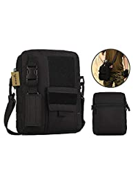 Wowelife Crossbody Single Shoulder Bag, Tactical Messenger Style Outdoor Gear, Casual Weekend Pack with Shoulder Strap for Hiking , Camping and Traveling
