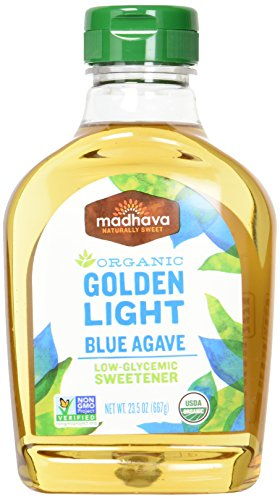 eet Organic Blue Agave Low-Glycemic Sweetener, Golden Light, 23.5 Ounce (Pack of 6) (Madhava Agave Nectar)
