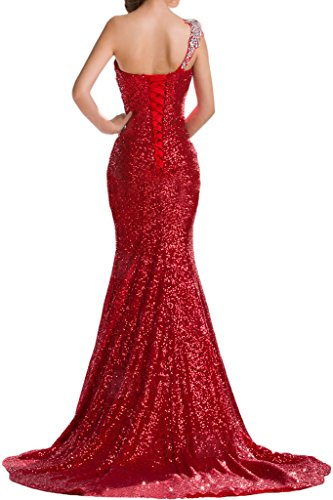 Evening One up Dress Dress Party Sequins Shoulder Sweep Avril Orange Elegant Lace x7SHnzqxO
