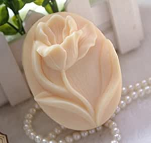 Silicone Handmade Soap Molds Crafts DIY Moulds 1pcs 6.8x6.8x2.0cm Flower zx10