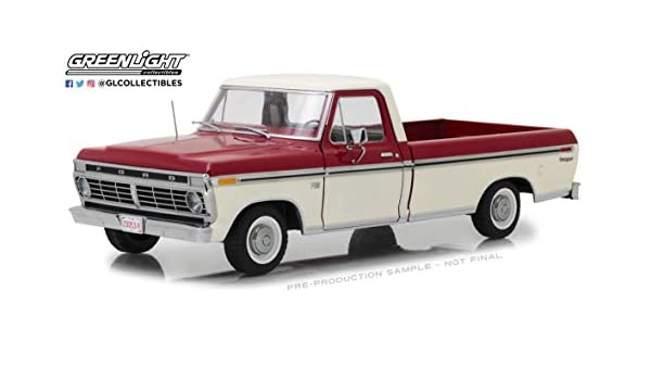 Ford f-100 pick up 1973 beige rojo maqueta de coche 1:18 GreenLight Collectibles