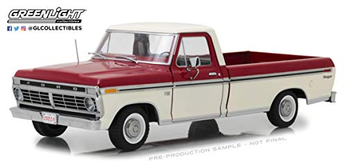 Greenlight 12962 1: 18 1972 Ford F-100 Truck - Red & White Two-Tone - New Tooling, Multi (Diecast Truck 1 18)