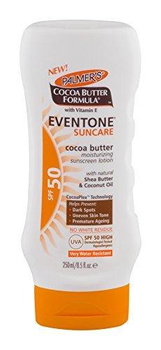 NEW Palmer's Cocoa Butter Formula Eventone Suncare SPF50 Lotion 250ml by (New Cocoa)
