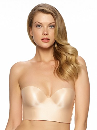 Felina Women's Essentials Longline Strapless Convertible Bra, Bare, 36B (Bras Seamless Convertible Strapless)