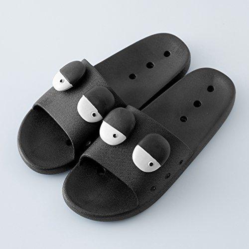 verano interior parejas fondo con nbsp;Zapatillas C creativa higiénico plano baño verano suave antideslizante 43 negro personalidad Fankou femenina cool 44 IfxFIY0