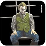 Heath Ledger as The Joker from Batman The Dark Knight - Original Film Themed Artwork Portrait by Kev Guyler - Coaster design by Coasteroo by Coasteroo