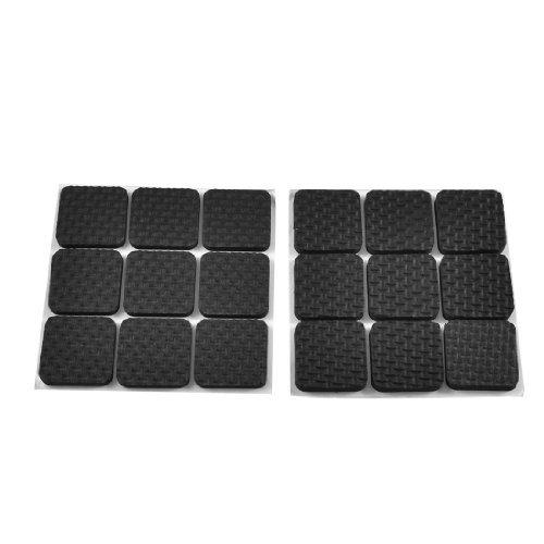 DealMux Square Shaped Foam Adhesive Pad Mat for Chair Leg 18 Pcs Black