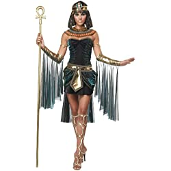 California Costumes Women's Eye Candy - Egyptian Goddess Adult, Black/Teal, Large