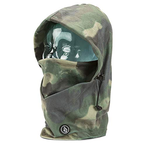 Volcom Men's Travel Hooded Polyester Fleece Detached Snow Hoody, Camouflage, One Size Fits All