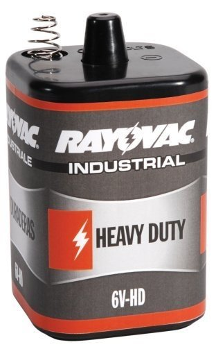 12 Pack Rayovac 6V-HD 6 Volt Heavy Duty Lantern Battery