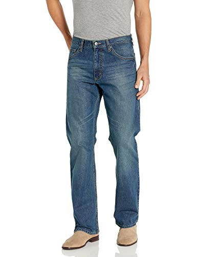 Wrangler Authentics Men's Relaxed Fit Boot Cut Jean, Medium Indigo 36x34