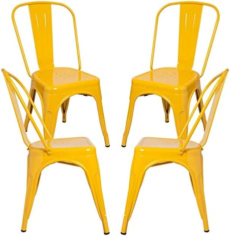 Regalos Miguel - Packs Sillas Comedor - Pack 4 Sillas Torix - Amarillo