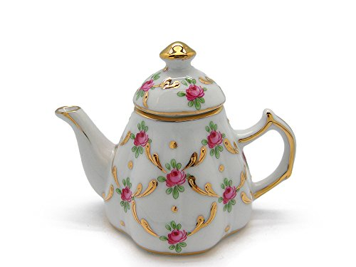 Vintage Victorian Desert Rose Tea Pot Jewelry Box