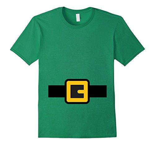 Mens Dwarf Costume Shirt, Halloween Matching Shirts for Group 3XL Kelly Green -