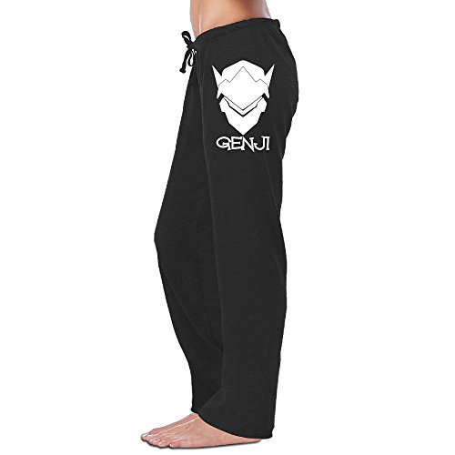 Overwatch Women's GENJI Soft Visor Sweatpants Womens Leisure Wear Black M]()
