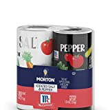 Morton Iodized Salt and Pepper Shakers, Disposable for BBQs, Parties, Camping and On-the-Go, 5.25 OZ Shaker Set (Pack of 12)
