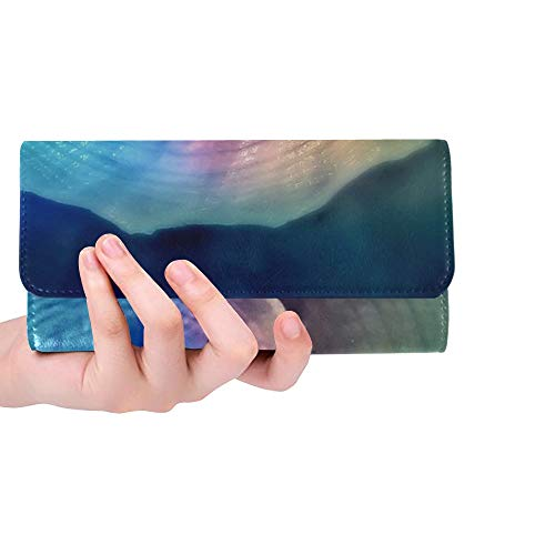Unique Custom Snail Shell Spiral Snail Shell Meeresbewohner Women Trifold Wallet Long Purse Credit Card Holder Case Handbag