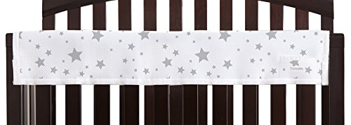 BreathableBaby | Railguard Crib Rail Cover | Helps Prevent Baby from Gnawing on Wood Rails |Preserves Life of Crib | Easy Installation and Care | Star Light White and Gray by BreathableBaby