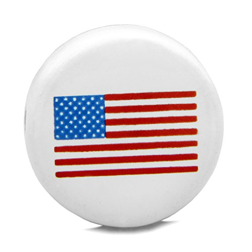 10 Pieces DIY Reversible Ceramic Handcrafted American Flag 21mm Beads with Large Hole