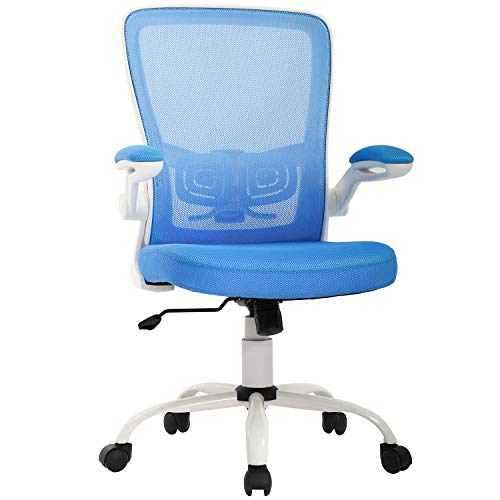 Office Chair Desk Chair Mesh Computer Chair Ergonomic Executive Swivel Rolling Chair Computer Stool with Lumbar Support, Blue