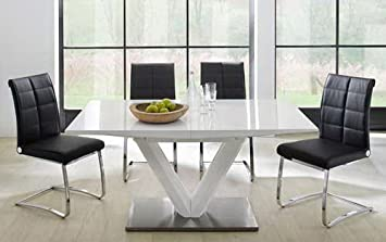 Esstisch weiß hochglanz  Esstisch, Ausziehtisch, Säulentisch, Küchentisch, Esszimmertisch ...