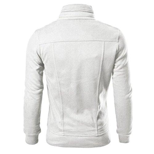 ♚Btruely Hombres de Solapa Herren Blanco Diseñado Mens Capa los Cardigan Top Moda Slim Chaqueta de IwSIrq
