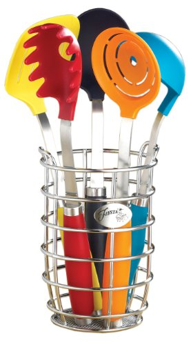 Fiesta 6-Piece Utensil Set with Crock Fiesta Utensil Crock